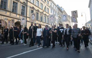 Demonstration im Anschluss an die mündliche Urteilsverkündung in München am 11. Juli 2018