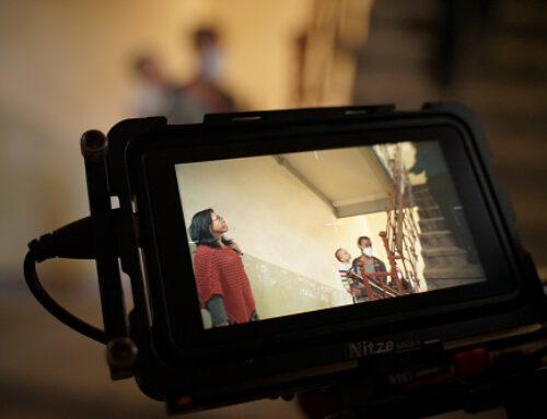 Filming with artist Pınar Öğrenci in Chemnitz