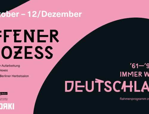 Ausstellung eröffnet auch in Berlin